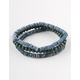BLUE CROWN 3 Pack Multi Colored Beaded Bracelets