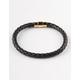 BLUE CROWN Single Braided Black & Gold Bracelet