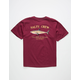 SALTY CREW Bruce Burgundy Boys T-Shirt