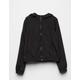 FULL TILT Solid Black Girls Windbreaker Jacket