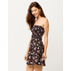 IVY & MAIN Floral Open Back Tube Dress