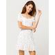 IVY & MAIN Square Neck Empire Ruffle Cream Dress