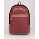 PRIMITIVE Blocked Homeroom Burgundy Backpack