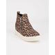 SODA Zip Platform Leopard Womens Shoes
