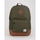HERSCHEL SUPPLY CO. Heritage Dark Olive & Saddle Brown Backpack