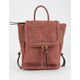 VIOLET RAY Kendall Floral Perforated Rust Mini Backpack
