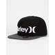 HURLEY One And Only Black Boys Snapback Hat