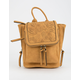 VIOLET RAY Kendall Floral Perforated Mustard Mini Backpack