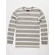BRIXTON Hilt Gray Mens T-Shirt