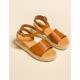 BAMBOO Jute Ankle Wrap Tan Womens Espadrille Flatform Sandals
