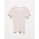 FULL TILT Essentials Ribbed Stripe Cream Girls Tee