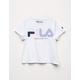 FILA Color Script Logo White Girls Tee