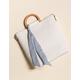 WEST OF MELROSE Woven Scarf Handbag