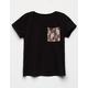 FULL TILT Leopard Print Girls Pocket Tee