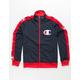 CHAMPION Big C Logo & Taping Mens Track Jacket