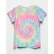FULL TILT Tie Dye Oversize Rainbow Girls Tee