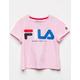 FILA Color Script Logo Pink Girls Tee