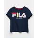 FILA Color Script Logo Navy Girls Tee