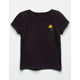WHITE FAWN Sunflower Charcoal Girls Tee