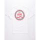 VANS Checkered Side Stripe White Boys T-Shirt