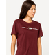 THE NORTH FACE Red Womens Tee