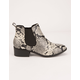 CITY CLASSIFIED Chelsea Python Womens Booties