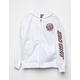 SANTA CRUZ Cloud Check White Girls Windbreaker Jacket