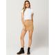 SKY AND SPARROW Stripe Denim Brown Mini Skirt