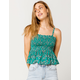 PATRONS OF PEACE Floral Womens Crop Cami