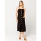 PATRONS OF PEACE Button Front Midi Dress