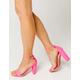 WILD DIVA Neon Pink Womens High Heeled Sandals