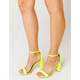 WILD DIVA Neon Yellow Womens High Heeled Sandals