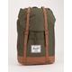HERSCHEL SUPPLY CO. Retreat Dark Olive & Saddle Brown Backpack