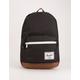 HERSCHEL SUPPLY CO. Pop Quiz Black & Tan Synthetic Leather Backpack