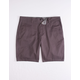 RSQ Mid Length Twill Gray Mens Chino Shorts