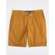 RSQ Mid Length Twill Tobacco Mens Chino Shorts