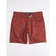 RSQ Twill Rust Mens Chino Shorts