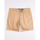 RSQ Twill Dark Khaki Mens Chino Shorts