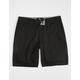 RSQ Mid Length Twill Black Mens Chino Shorts