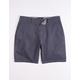 RSQ Mid Length Twill Navy Mens Chino Shorts
