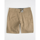 RSQ Mid Length Twill Dark Khaki Mens Chino Shorts