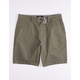 RSQ Mid Length Twill Sage Mens Chino Shorts