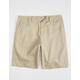 RSQ Long Twill Khaki Mens Chino Shorts