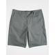 RSQ Long Twill Charcoal Mens Chino Shorts