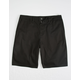 RSQ Long Twill Black Mens Chino Shorts