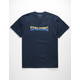 SPALDING Split Wordmark Navy Mens T-Shirt