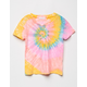 FULL TILT Swirl Tie Dye Girls Tee