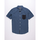 RETROFIT Contrast One Pocket Mens Oxford Shirt