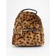 ORCHID LOVE Faux Fur Leopard Mini Backpack