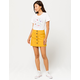 SKY AND SPARROW Corduroy Button Front Mustard Skirt